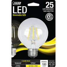 FEIT Electric 25 watts G25 LED Bulb 180 lumens Soft White Globe 25 Watt