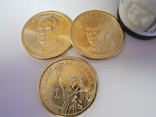 3 Coin Set 2016 (1P & 2Ds) Gerald R. Ford Presidential Golden Dollar BU $1