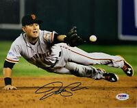 San Francisco Giants Joe Panik Signed 8x10 Photo WS Dive - Auto PSA DNA COA