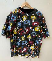 AKADEMIKS NY men's retro style record short sleeve graphic t-shirt size L - XL