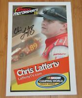 2015 Chris Lafferty signed Motorsports TV NASCAR CWTS postcard