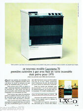 PUBLICITE ADVERTISING 046  1966  Laco cuisinière à gaz Lacorama 70