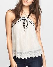 Free People Women's 'Hearts Content' Mesh Lace Tank Sz M $118 I524