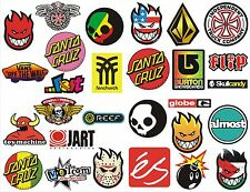 28 Pegatinas de vinilo Marcas Skate, Snow, Surf - NEW COLLECTION 28 STICKERS !