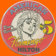 FLAMINGO HILTON $5 1994 MADONNA SUPERSTARS CASINO CHIP RENO NV - FREE SHIPPING