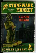 THE STONEWARE MONKEY by Freeman, rare US Pop Library #11 crime pulp vintage pb