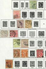 $Victoria/Western Australia stamp collection on album pages, mix. cond. lot