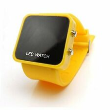 LED RETRO FASHION DIGITAL MENS/LADIES/GIRLS/BOYS JELLY WRIST WATCH YELLOW