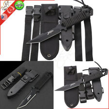 Scuba Diving Knife Black Tactical Sharp Blade Hunting Survival Rescue Knife