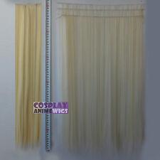 Light Golden Blonde Hair Weft Extention (3 pieces) - 60cm High Temp - Cosplay