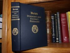 Burke's Dormant And Extinct Peerages Genealogy Hardbound Book
