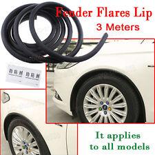 Universal 3M Wheel Eyebrow Protector Lip Fender Flare Extension Guard Trim Black