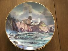 """"""" Lighting The Way """" Guardians Of The Coasts by Rudi Reichardt Lighthouse Plate"""