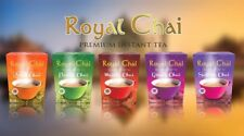 Royal CHAI Premium Instant Powdered Tea  - Masala Ginger Karak Saffron Elaichi