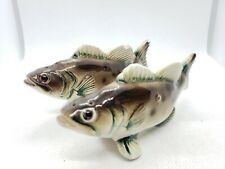 "Vintage Large Mouth Bass Fish Salt And Pepper Shaker Set 4.5"" Japan"