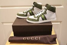 Gucci High Top Green White High Top Sneakers 337227KMH103080 Size US 9 Deadstock
