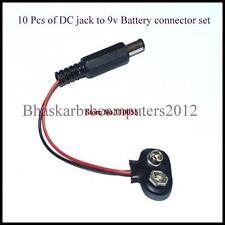 10 Pcs of DC Jack to 9 Volt Battery Connectors Cable set for DIY Kits