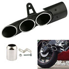 38-51MM THREE HOLE EXHAUST MUFFLER PIPE SLIP ON STAINLESS STEEL MOTORCYCLE