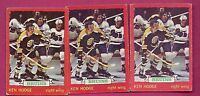 3 X 1973-74 OPC # 26 BRUINS KEN HODGE GOOD CARD (INV#5395)