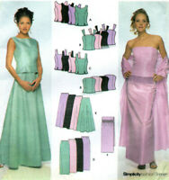 NEW Simplicity 9466 Princess Seams Top & Skirt Formal Pattern 14-2