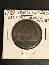 1794 Great Britain 1/2 Penny Prince of Wales Elected Grand Master Masons Estate