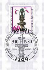 BRD 1980: Kölner Dom Nr. 1064 mit sauberem Bonner Ersttags-Sonderstempel! 1A 156