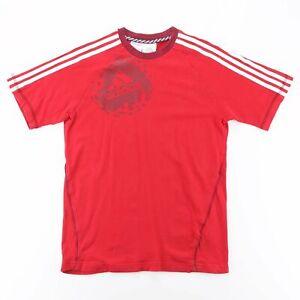 ADIDAS  Red 00s Short Sleeve T-Shirt Boys XL