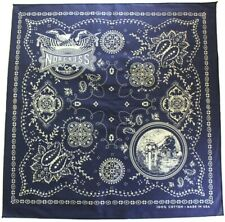 Norcross Color Fast Indigo Bandana Handkerchief Made in Usamotorcycle railroad