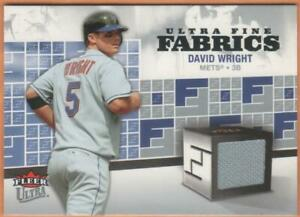 2006 Fleer Ultra Fine Fabrics FM-DW DAVID WRIGHT (GAME USED MATERIAL) NY Mets