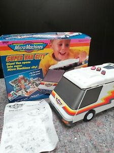 classic 1991 GALOOB MICRO MACHINES BOXED SUPER VAN CITY TOY PLAYSET - 1991. USED
