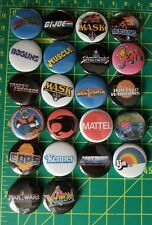 1 Inch Pin Set of 22 Buttons Jem Boglins Thundercats G.I.Joe MOTU M.A.S.K.