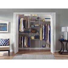 Closetmaid Closet Storage Organizer Kit Shoe Shelf Durable Metal White 5'-8'