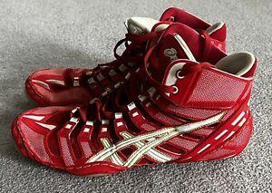 Asics Mens Wrestling Shoes Red Size 11