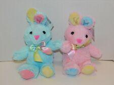 Baby Bunny Stuffed Plush Animal  Pink or Blue