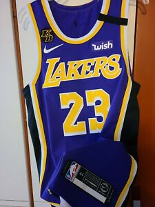 Lebron James 2019-20 Los Angeles Lakers Nike Purple Authentic Jersey Size 44 +2