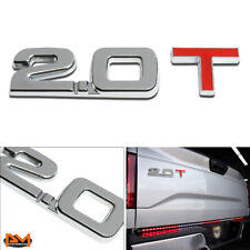 """2.0T""Polished Metal 3D Decal Emblem Exterior Sticker For Toyota/Audi/Volkswagen"