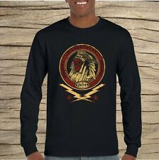 Custom Tradition Long Sleeve T-shirt Cool Retro Indian Motorbike Design