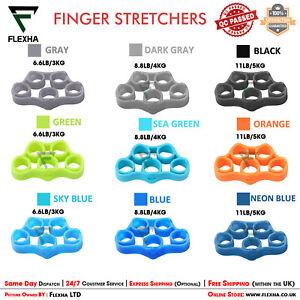 Hand Strength Grip Finger Stretcher Strengthener Resistance Band Support Tension