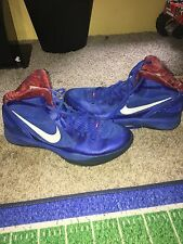 mens blue and red nike basketball shoes size 14