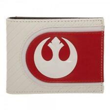 1744469986 OFFICIAL STAR WARS  THE LAST JEDI REBEL SYMBOL WHITE AND RED WALLET (NEW)