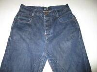 "William Rast Button Fly Straight Leg Skinny Mens Denim Blue Jeans 31"" X 28"""