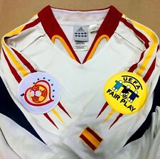 SPAIN 2004 Adidas Away Jersey (M) ****EXC -Euro 2004 & UEFA FAIR Play Patches