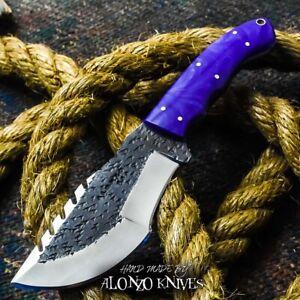 ALONZO KNIVES USA CUSTOM HANDMADE BUSHCRAFT TRACKER 1095 KNIFE CORERLON 19564