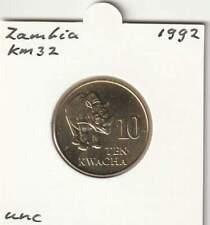 Zambia 10 kwache 1992 UNC - KM32 / Neushoorn / Rhinoceros (me151)