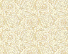 Versace Home Wallpaper 935831 Tapete cremeweiß beige Metallic Satin Barock Vlies