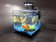 3-Gallon Fish Tank Aquarium Cube LED Light Freshwater Office Home Decoration NEW