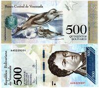 VENEZUELA Billet 500 BOLIVARES 2016 2017 NEW NOUVEAU DAUPHINS UNC NEUF