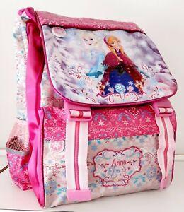 Sac D'École Frozen Temps Libre Cartable Dos Petite Fille Extensible Anna & Elsa