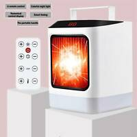 US Portable Electric Heater Fan Adjustable Remote Controller Thermostat Space EA