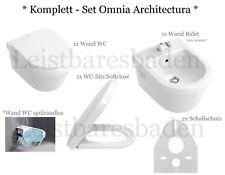 *KOMPLETT SET* Villeroy&Boch Omnia architectura Omnia WC Bidet Sitz Schallschutz